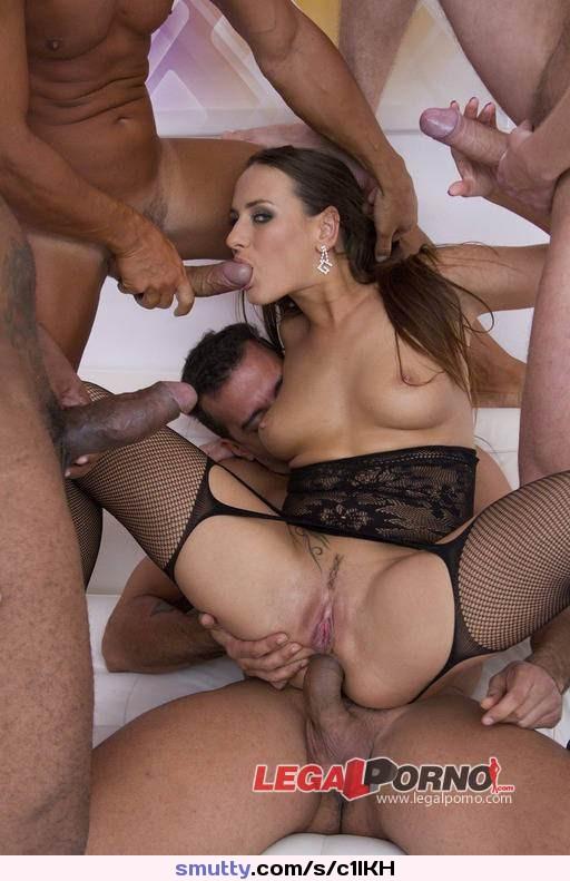 Katrina Jade, tattooed whore in fishnet stockings, gets her pierced pussy fucked photo 3